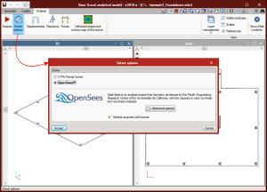 StruBIM Foundations. OpenSees. Motor de cálculo